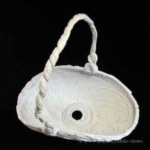 画像3: 綱木紋・鉢・くらまL・オフホワイト〜ライトグレー