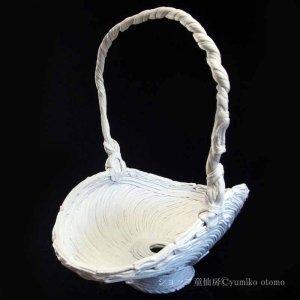 画像5: 綱木紋・鉢・くらまL・オフホワイト〜ライトグレー