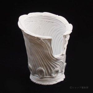 画像2: 綱木紋・鉢・かぐや姫ワンスリットL・オフホワイト〜ライトグレー