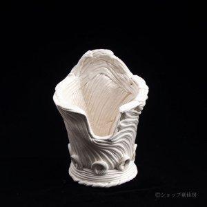画像1: 綱木紋・鉢・かぐや姫ワンスリットM・オフホワイト〜ライトグレー