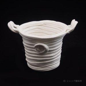 画像1: 綱木紋・ミニ小鉢3.5・オフホワイト〜ライトグレー