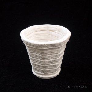 画像1: 綱木紋・鉢・ミニK・オフホワイト〜ライトグレー