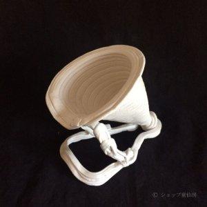 画像2: 綱木紋・鉢・磯の花・オフホワイト〜ライトグレー