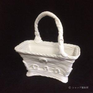 画像1: 綱木紋・鉢・クララ持手付・オフホワイト〜ライトグレー