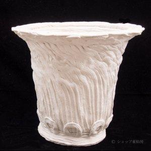 画像1: 綱木紋・丸鉢・オフホワイト〜ライトグレーLLロング