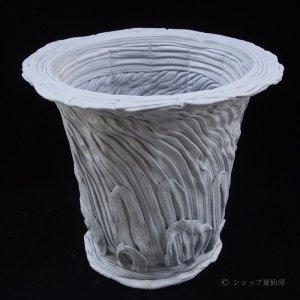 画像1: 綱木紋・鉢・丸鉢3L・グレー