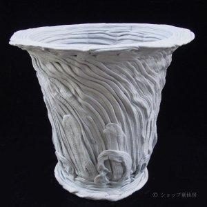 画像2: 綱木紋・鉢・丸鉢3L・グレー