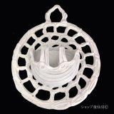 綱木紋・鉢・ひまわり3スリット・オフホワイト〜ライトグレー