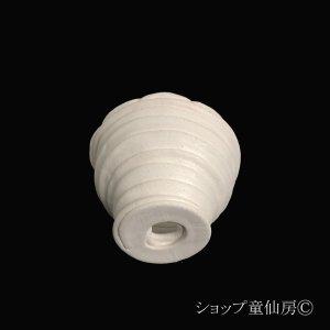 画像2: 綱木紋・鉢・ミニR・オフホワイト〜ライトグレー