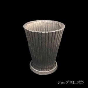 画像1: 樹脂鉢・レイユールロングSB 受皿付・ブラック
