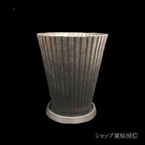 画像2: 樹脂鉢・レイユールロングSB 受皿付・ブラック