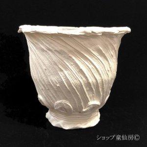 画像2: 綱木紋・鉢・丸鉢L・オフホワイト〜ライトグレー