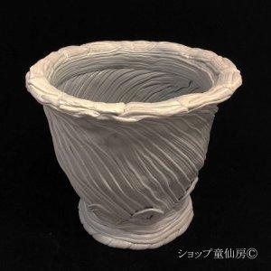 画像1: 綱木紋・鉢・丸鉢・グレー・L