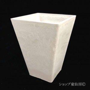 画像1: 樹脂鉢・ステータススクエアポットL・ホワイト