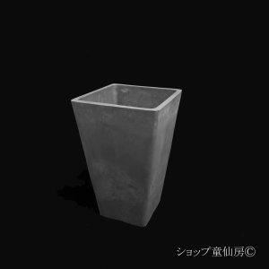 画像1: 樹脂鉢・ステータススクエアポットS・ブラック