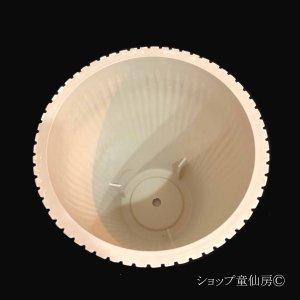 画像3: 樹脂鉢・レイユールロングMW 受皿付・ホワイト