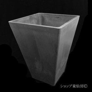画像1: 樹脂鉢・ステータススクエアポットL・ブラック