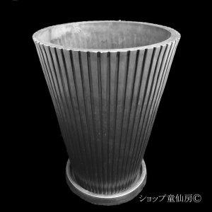 画像1: 樹脂鉢・レイユールロングMB 受皿付・ブラック