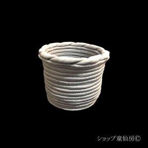 画像1: 綱木紋・鉢・花器三段・グレー