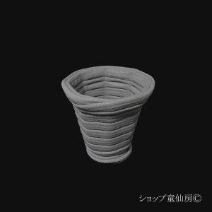 画像1: 綱木紋・鉢・六角鉢S・グレー