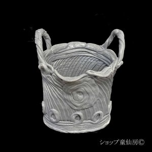 画像1: 綱木紋・鉢・バスケット・グレー